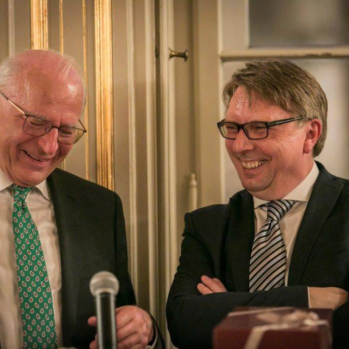 ORF-Chefredakteur Fritz Dittlbacher und ÖNB-Präsident Claus Raidl 13