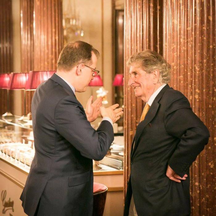 ORF-Chefredakteur Fritz Dittlbacher und ÖNB-Präsident Claus Raidl 22