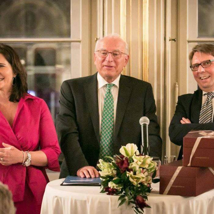 ORF-Chefredakteur Fritz Dittlbacher und ÖNB-Präsident Claus Raidl