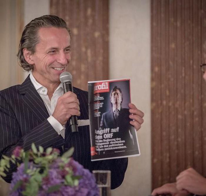 Profil-Herausgeber Christian Rainer und ORF-Generaldirektor Alexander Wrabetz 2