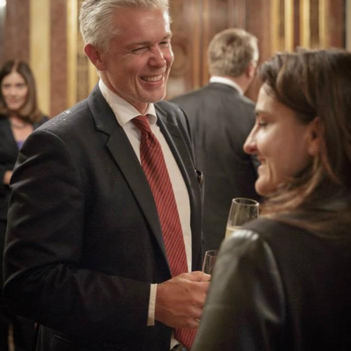 Rainer Nowak und CEO der ÖBB Christian Kern 14