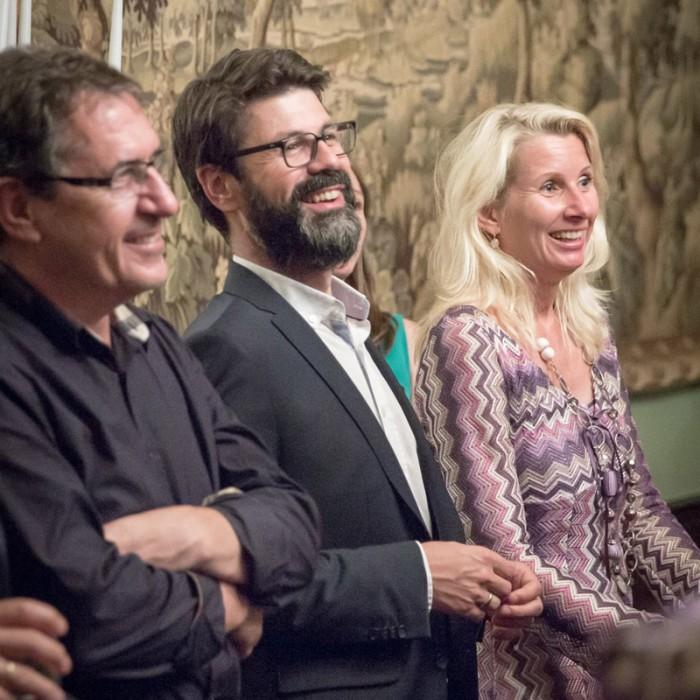 Matthias Strolz, Parteivorsitzender der NEOS, und der Informationsdirektorin der Sendergruppe ProSiebenSat.1PULS 4 GmbH Corinna Milborn 13