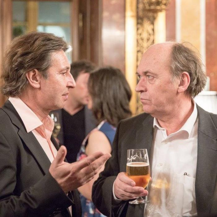Finanzminister Hans Jörg Schelling und Chefredakteur Andreas Lampl 19
