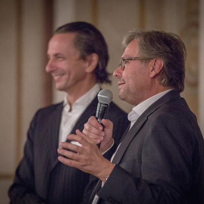 Profil-Herausgeber Christian Rainer und ORF-Generaldirektor Alexander Wrabetz