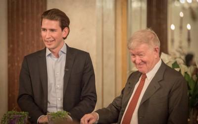 Falter-Chefredakteur Armin Thurnher und Staatssekretär Sebastian Kurz 2