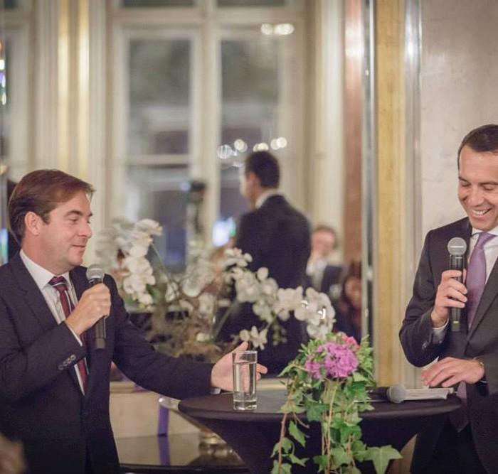 Rainer Nowak und CEO der ÖBB Christian Kern 10
