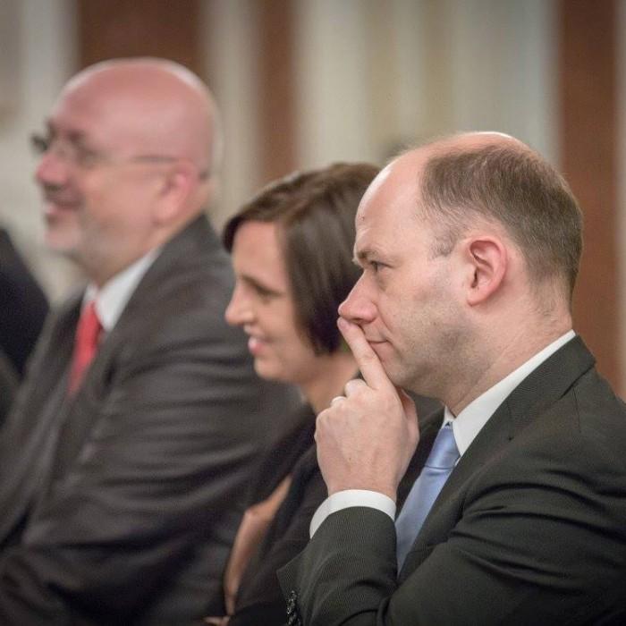 Finanzminister Hans Jörg Schelling und Chefredakteur Andreas Lampl 12