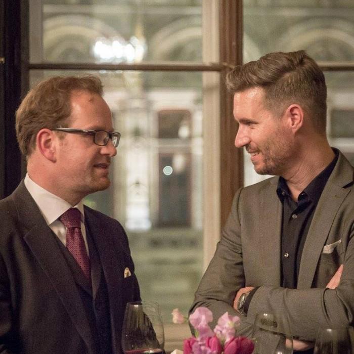 Finanzminister Hans Jörg Schelling und Chefredakteur Andreas Lampl 10