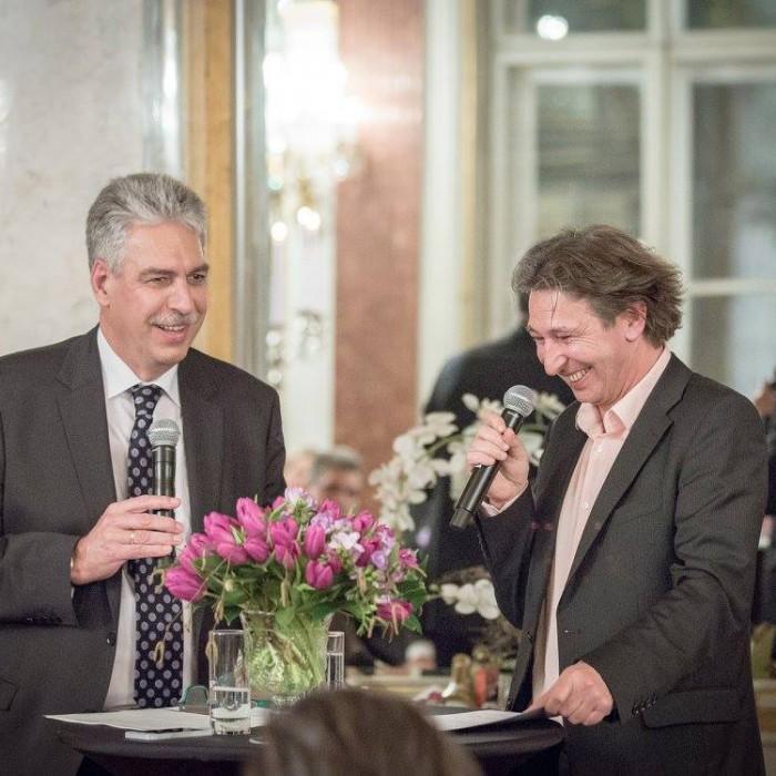 Finanzminister Hans Jörg Schelling und Chefredakteur Andreas Lampl 8