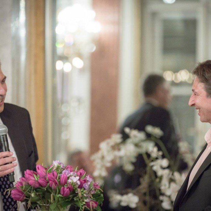 Finanzminister Hans Jörg Schelling und Chefredakteur Andreas Lampl 6