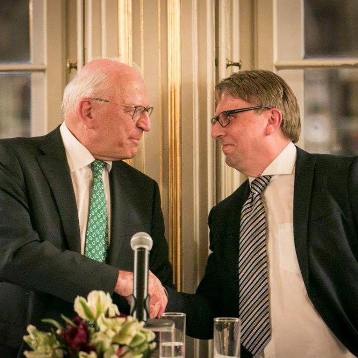 ORF-Chefredakteur Fritz Dittlbacher und ÖNB-Präsident Claus Raidl 20