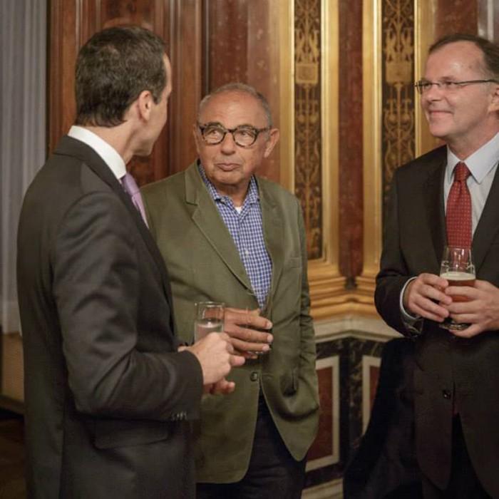 Rainer Nowak und CEO der ÖBB Christian Kern 35