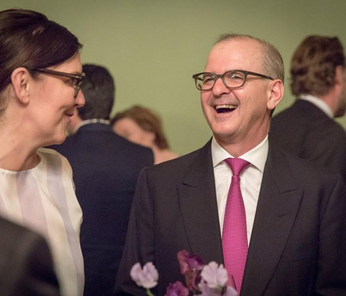 Matthias Strolz, Parteivorsitzender der NEOS, und der Informationsdirektorin der Sendergruppe ProSiebenSat.1PULS 4 GmbH Corinna Milborn 34