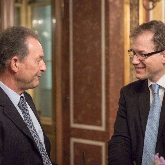Finanzminister Hans Jörg Schelling und Chefredakteur Andreas Lampl 40