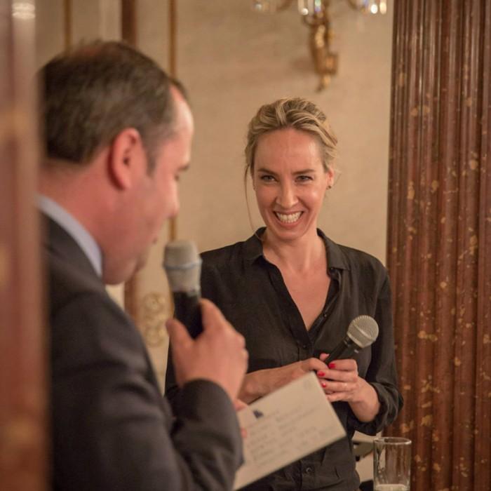 TV-Journalistin Nadja Bernhard und Ex-Finanzminister Sepp Pröll 25