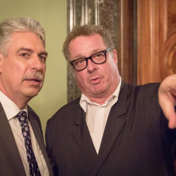 Finanzminister Hans Jörg Schelling und Chefredakteur Andreas Lampl 39