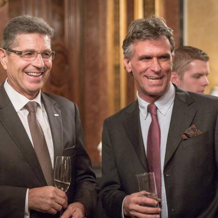 Finanzminister Hans Jörg Schelling und Chefredakteur Andreas Lampl 37